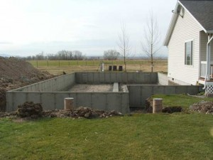 Addition with crawl space.